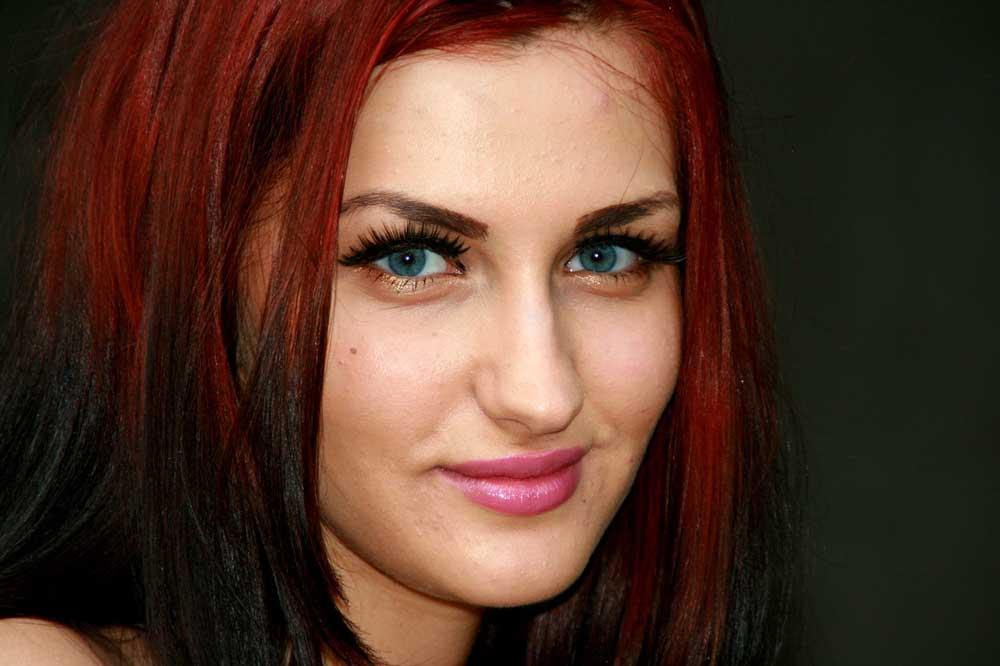 ombre pramenovi na crvenoj kosi