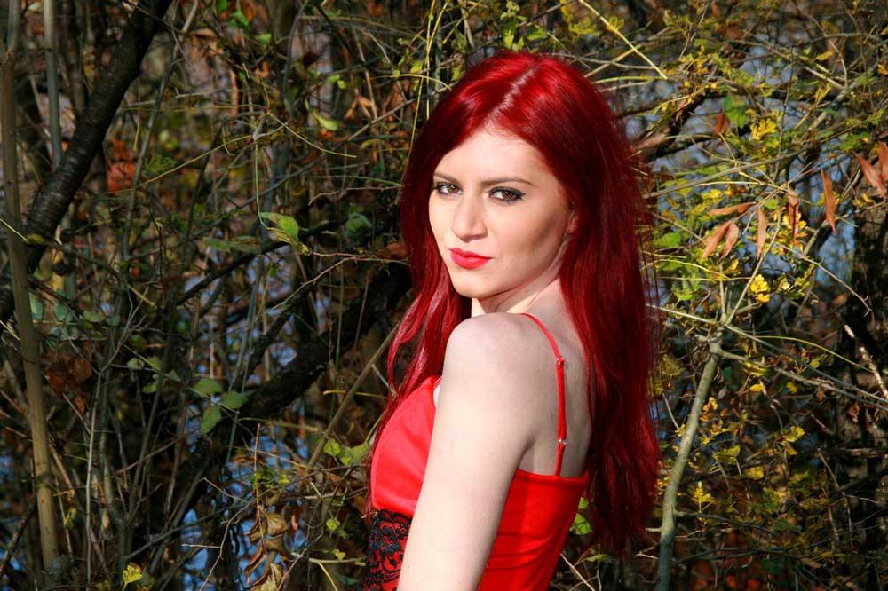 crvena boja kose nijanse