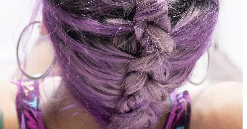 ljubicasta boja kose