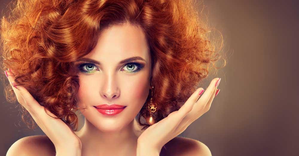 taman ten i crvena boja kose