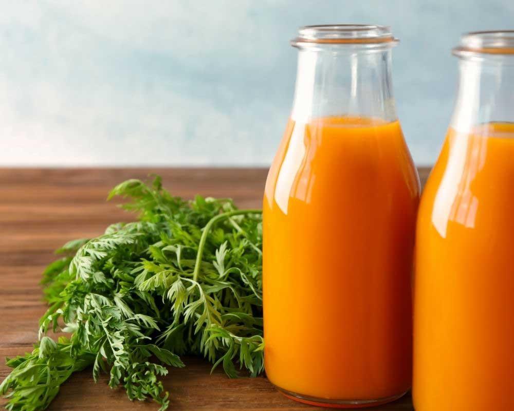 sok šargarepe za kosu
