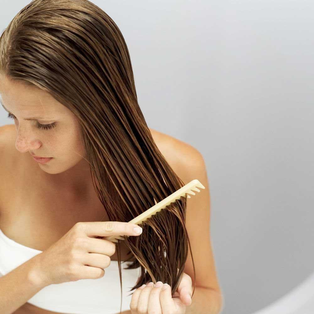 maska za ispravljanje kose sa puterom