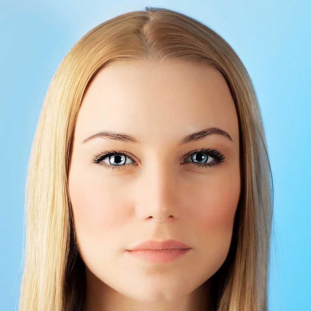 razdeljak prema obliku lica na dugoj kosi